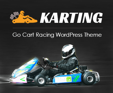 Karting - Go Kart Racing WordPress Theme