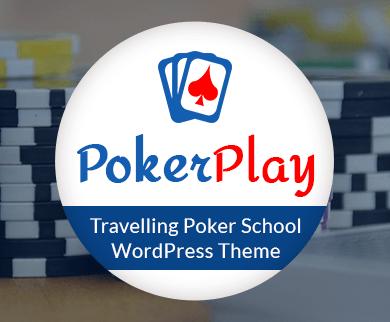PokerPlay - Travelling Poker School WordPress Theme