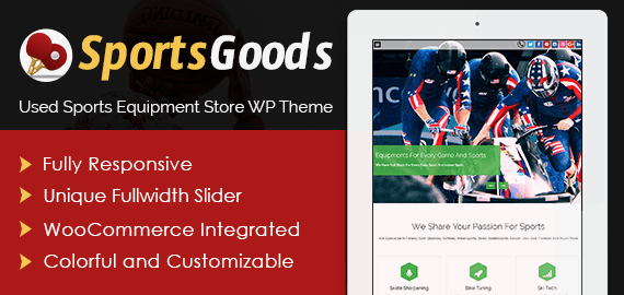 Used Sports Equipment Store WordPress Theme