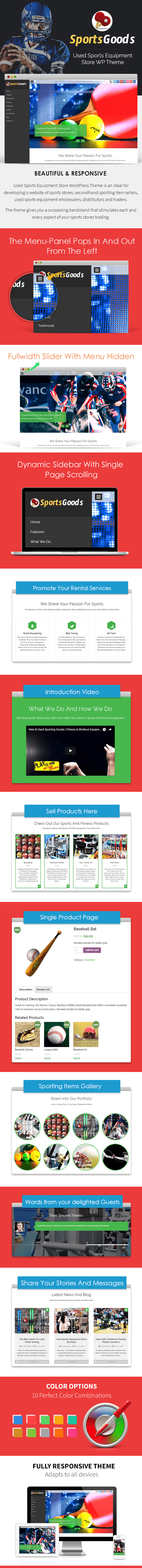 Used Sports Equipment Store WP Theme