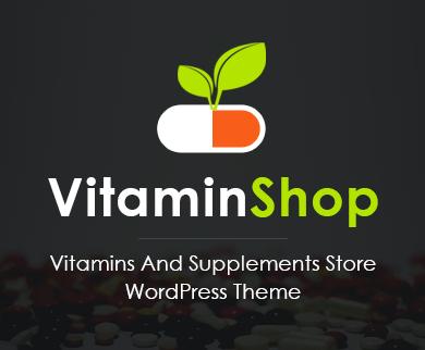 VitaminShop - Vitamins And Supplements Store WordPress Theme