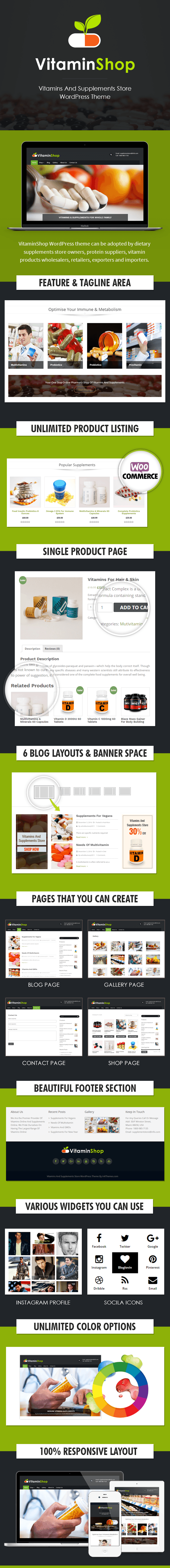 Vitamins And Supplements Store WP Theme