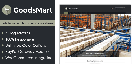 Wholesale Distribution Service WordPress Theme InkThemes - Real estate wholesale website templates
