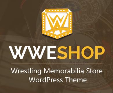 WWE Shop - Wrestling Memorabilia Store WordPress Theme