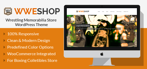 Wrestling Memorabilia Store WordPress Theme