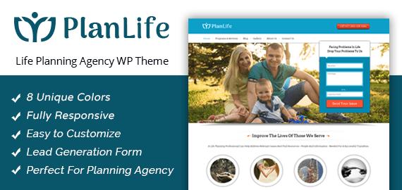 Life Planning Agency WordPress Theme
