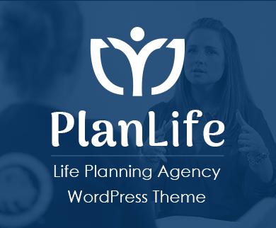 PlanLife - Life Planning Agency WordPress Theme