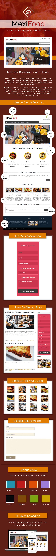 Mexican Restaurant WordPress Theme Salespage