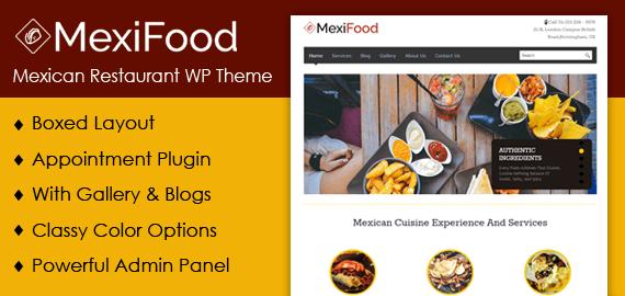 Mexican Restaurant WordPress Theme