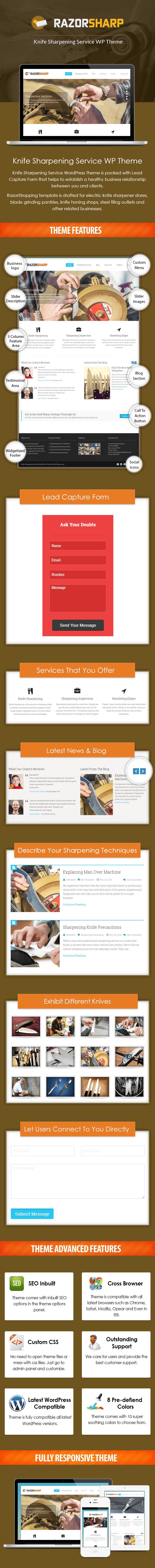 RazorSharp WP Theme Sales Page