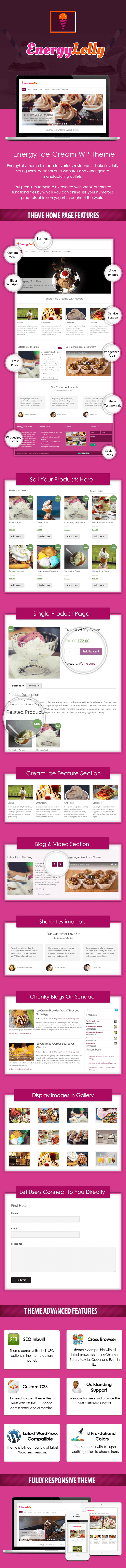 Energy Ice Cream WordPress Theme