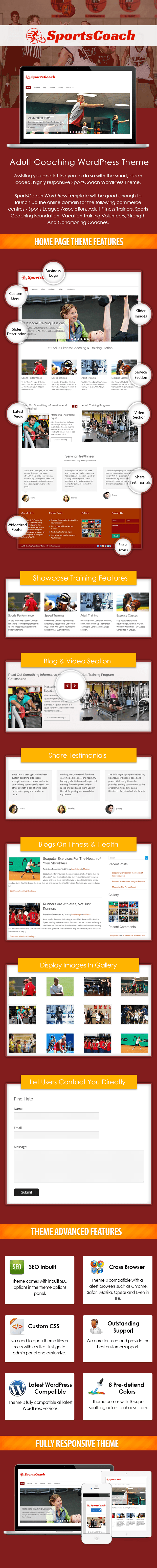 SportCoach WP Theme