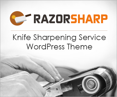 RazorSharp - Knife Sharpening Service WordPress Theme