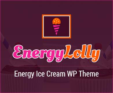 EnergyLolly - Energy Ice Cream WordPress Theme
