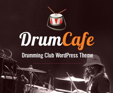 DrumCafe - Drumming Club WordPress Theme