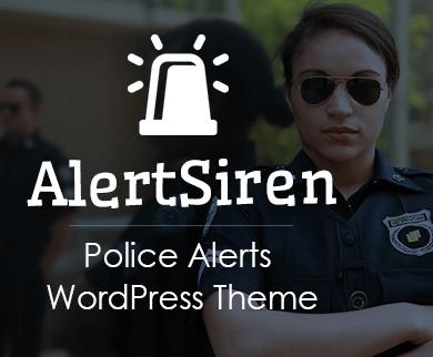 AlertSiren - Police Alerts WordPress Theme