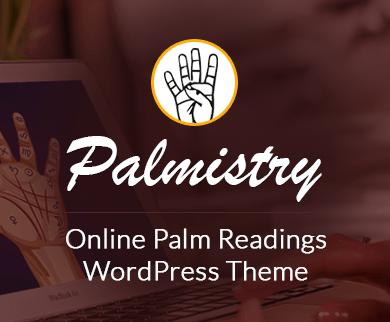 Palmistry - Online Palm Readings WordPress Theme