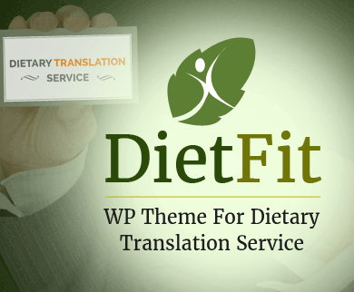 DietFit - Dietary Translation Service WordPress Theme