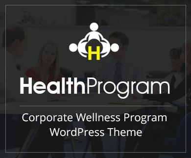 HealthProgram - Corporate Wellness Program WordPress Theme