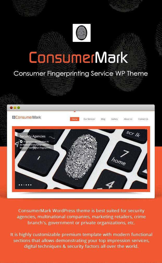 ConsumerMark - Fingerprinting Service WordPress Theme