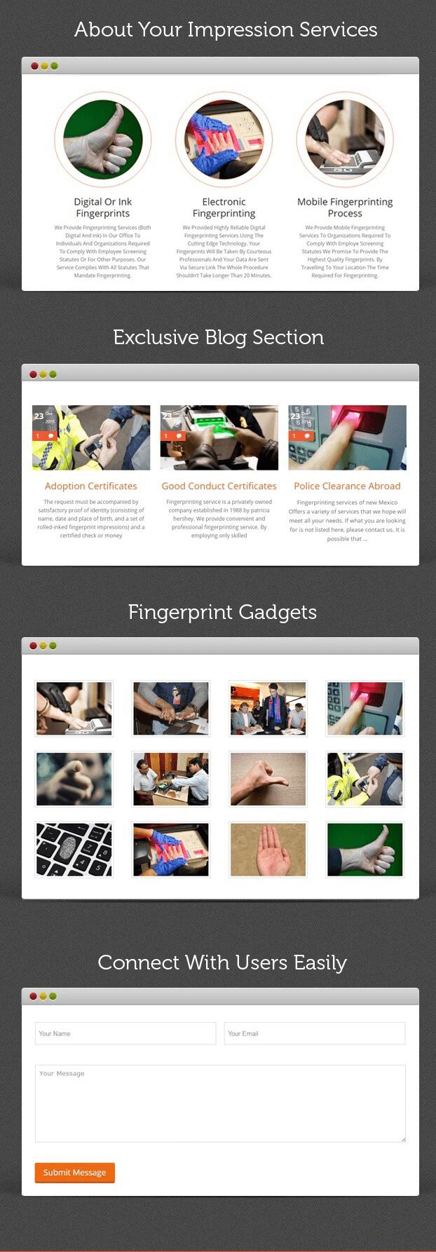 About - Fingerprinting Service WordPress Theme