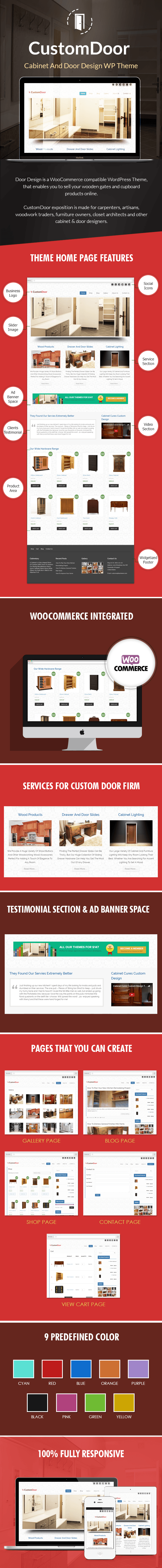 Cabinet And Door Design WordPress Theme