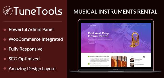 Musical Instruments Rental WordPress Theme