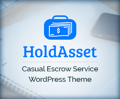 HoldAsset - Casual Escrow Service WordPress Theme & Template