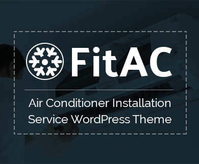 Fit AC - Air Conditioner Installation Service WordPress Theme & Template