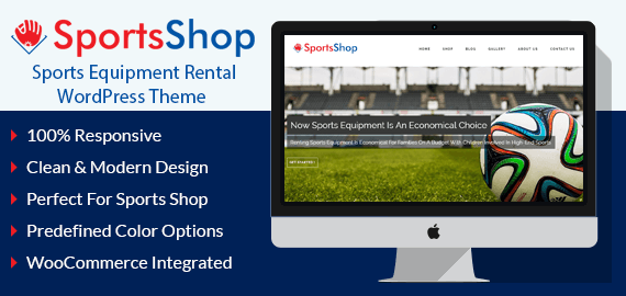 SportsShop – Sports Equipment Rental WordPress Theme