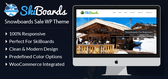 Snowboards Sale WordPress Theme