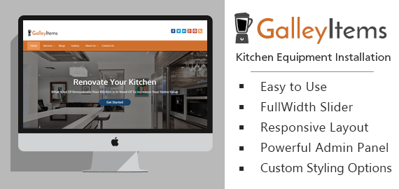 Kitchen Equipment Installation WordPress Theme