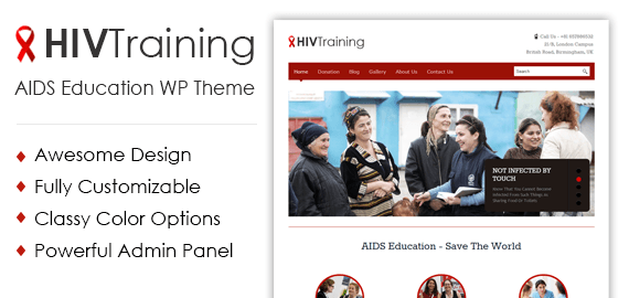 AIDS Education WordPress Theme