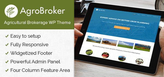 Agricultural Brokerage WordPress Theme