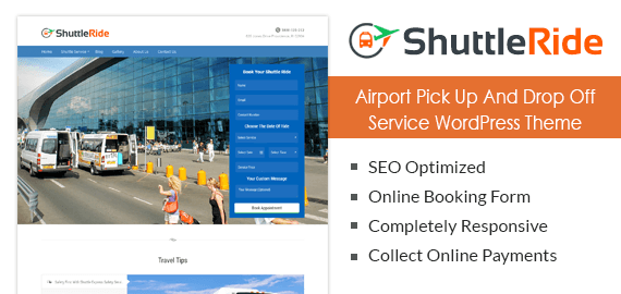 Airport Pick Up And Drop Off Service WordPress Theme