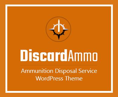 DiscardAmmo - Ammunition Disposal Service WordPress Theme & Template