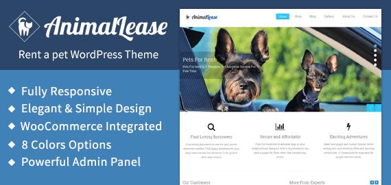 Rent A Pet WordPress Theme