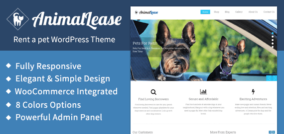 Pet care Website Templates For WordPress | InkThemes