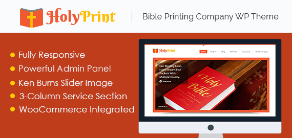 Bible Printing Company WordPress Theme
