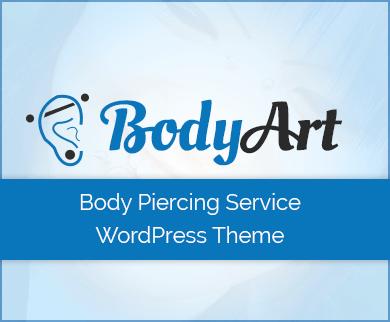 Body Art - Body Piercing Service WordPress Theme & Template