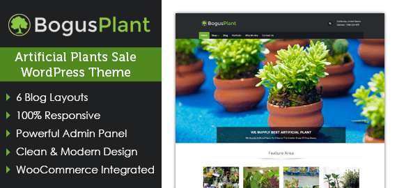 Bogus Plant – Artificial Plants Sale WordPress Theme