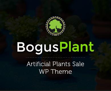 Bogus Plant - Artificial Plants Sale Wordpress Theme & Template