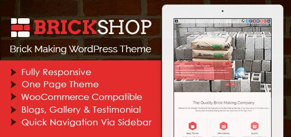 Brick Making WordPress Theme