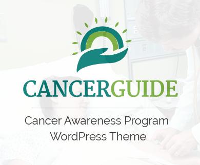 Cancer Guide - Cancer Awareness Program WordPress Theme & Template