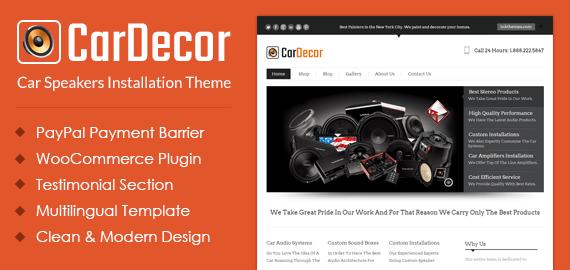 Car Speakers Installation WordPress Theme & Template   InkThemes