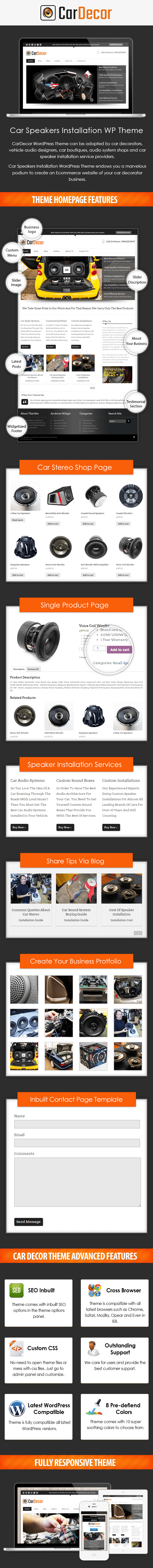 Car Speakers Installation WP Theme