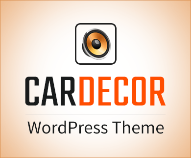 Car Decor - Car Speakers Installation WordPress Theme & Template