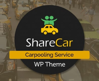 Share Car - Carpooling Service WordPress Theme & Template