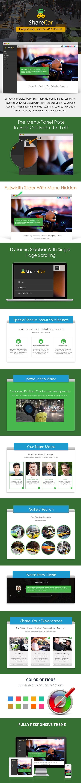 Carpooling Service WordPress Theme