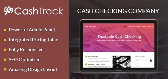 Cash Checking Company WordPress Theme